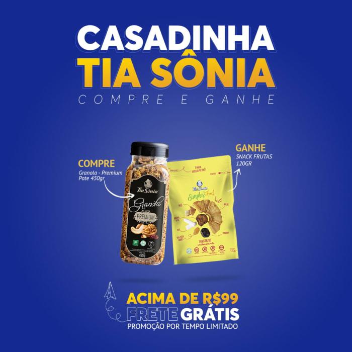 Compre Granola Premium 450gr e Ganhe Snack Frutas