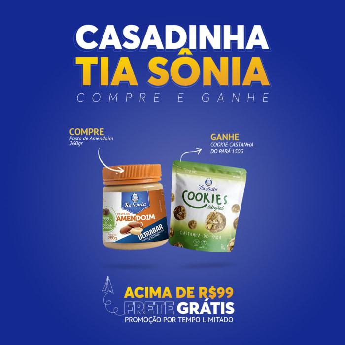 Compre Pasta de Amendoim 260gr e Ganhe Cookie Castanha do Pará