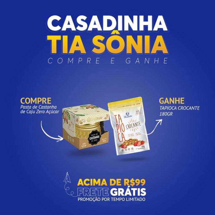 Compre Pasta de Castanha de Caju Zero Açúcar e Ganhe Tapioca Crocante 180gr