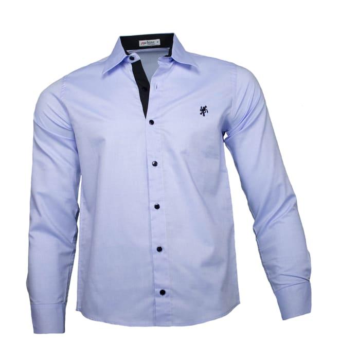 camisa-masculina-azul-claro-preto1220