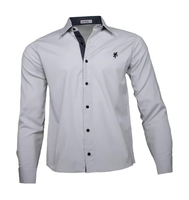 camisa-masculina-cinza-preto-poa1220