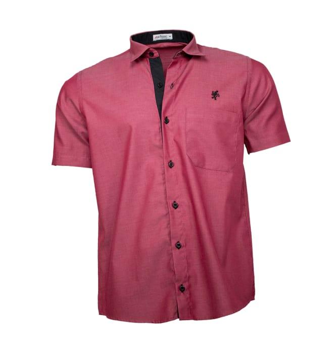 camisa-masculina-manga-curta-marsala