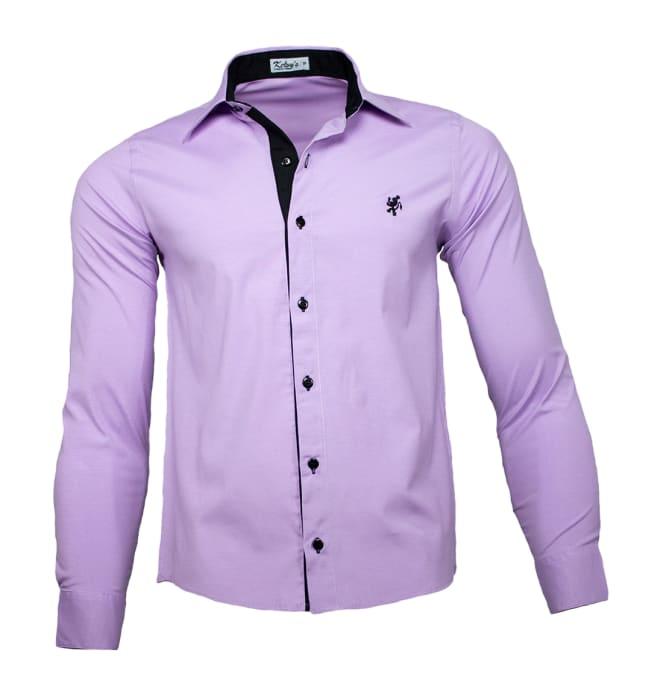 camisa-masculina-lilás