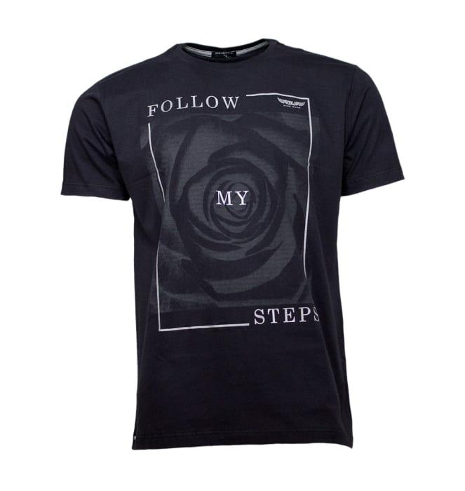 camiseta-folow-steps-preta-dixie