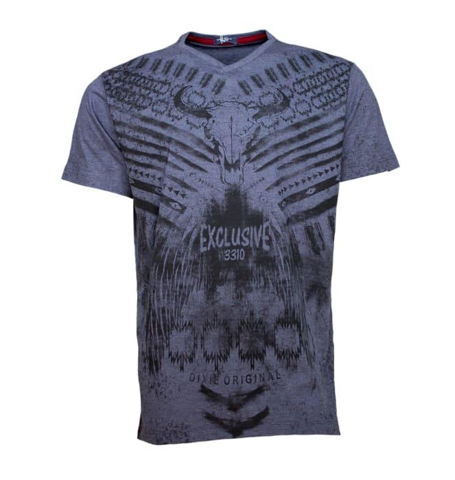 camiseta-bull-skull-azul-dixie