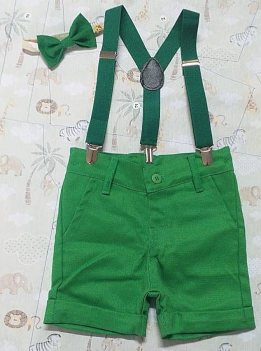 bermuda verde e suspensorio smash