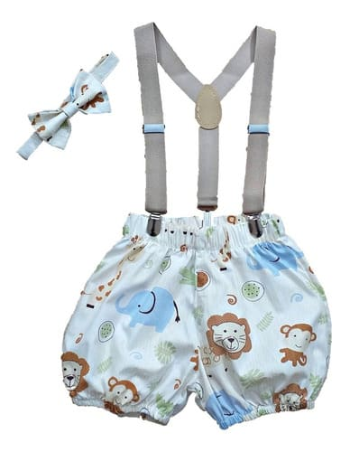 Conjunto Roupa De Bebe Menino Smash The Cake Safari