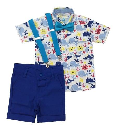 roupa infantil tema fundo do mar