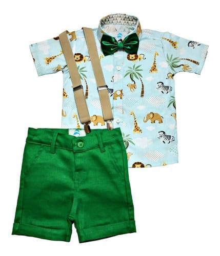 conjunto-roupas-social-festa-aniversario-infantil-safari
