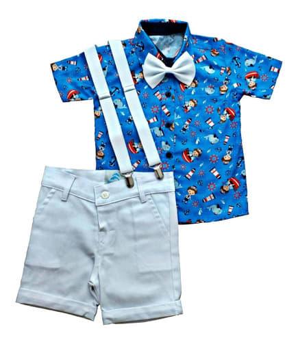 conjunto roupa infantil bebe menino marinheiro