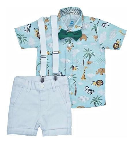 Roupa Infantil Safari Azul