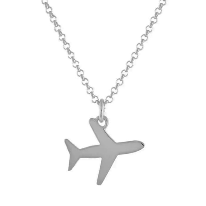 colar com pingente aviao prata (1)