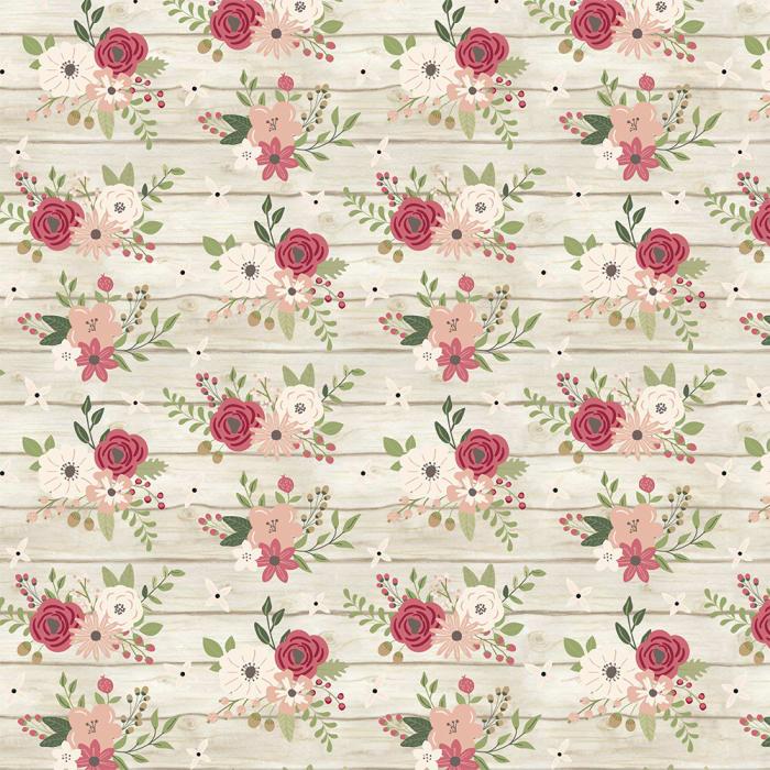 13801 - Floral na Madeira Marfim-1000x1000