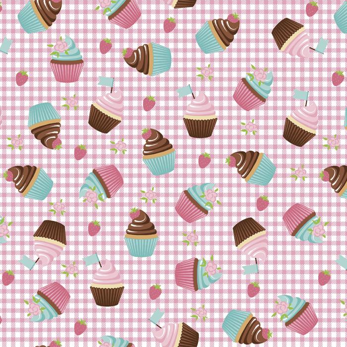 14511 - Cupcakes Xadrez Rosa-1000x1000