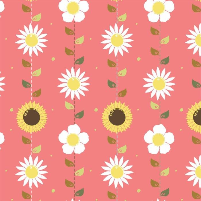 flores fundo rosa