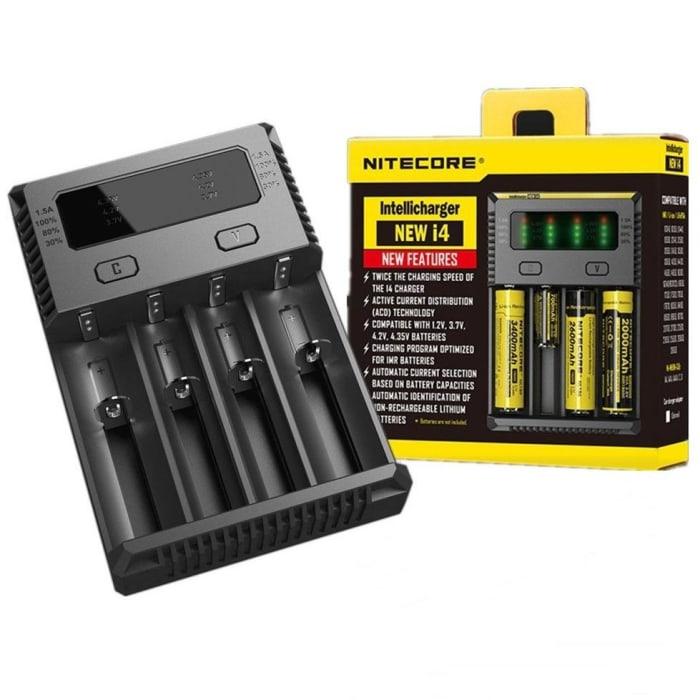 Carregador de Baterias 18650/18350 - Nitecore New i4 (0)