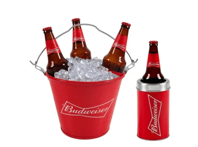 Kit Balde e Porta Garrafa  Budweiser  600ml (big)
