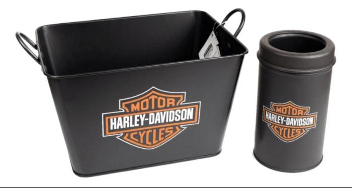 Kit Balde para Cerveja Harley Davidson Retangular + Porta Garrafa (big)