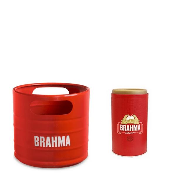 Balde Barril Brahma Vermelho + Porta Garrafa 600ML (big)