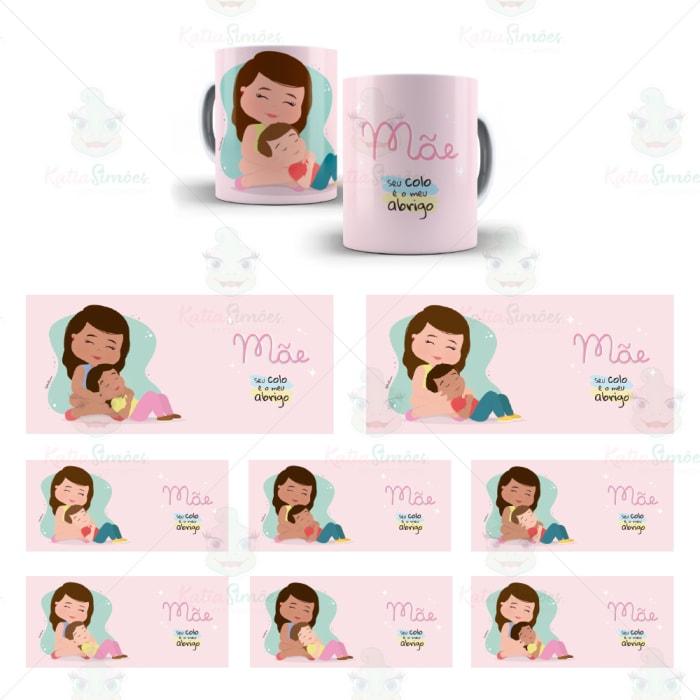 Kit Digital Caneca Rosa
