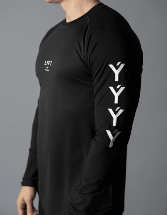 Camiseta De Manga Comprida LYFT Preto (big)