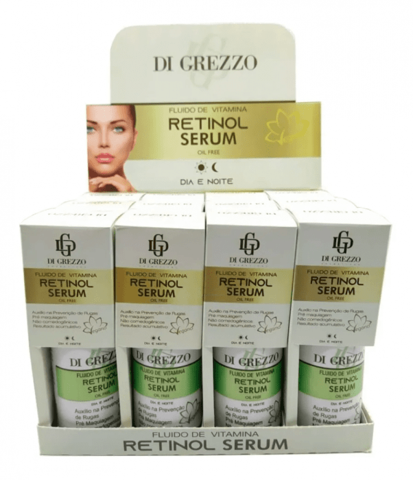 Box c/12 Un - Sérum Facial Vegano Retinol 30ml - Fluido de Vitaminas - Di Grezzo (big)