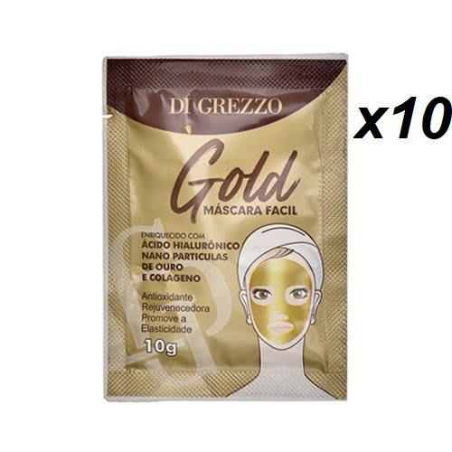 Kit c/10 Un - Sachê Máscara Facial Gold 10g - Di Grezzo (big)