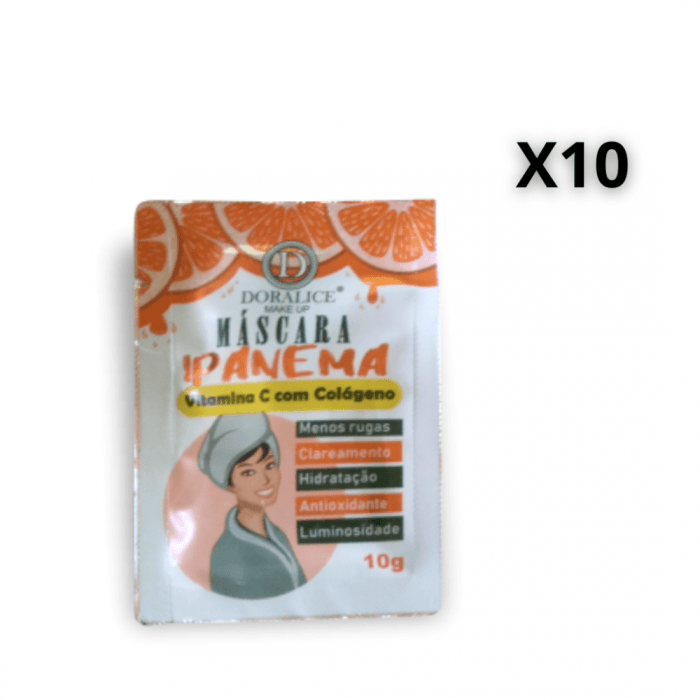Kit c/10 Un - Sachê Máscara Facial Ipanema Vitamina C Com Colágeno - Doralice - DL-0203 (big)