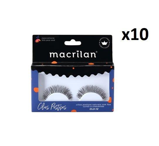 Box c/10 Un - Cílios Postiços Fios Curtos e Crescentes - CL3-12 - Macrilan (big)
