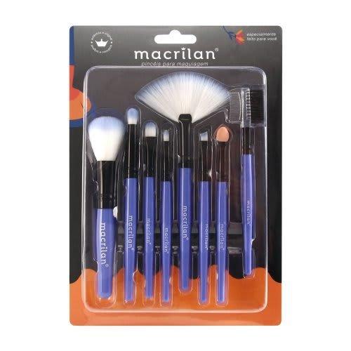 KP3-1A - Kit Com 8 Pincéis Para Maquiagem Macrilan (big)