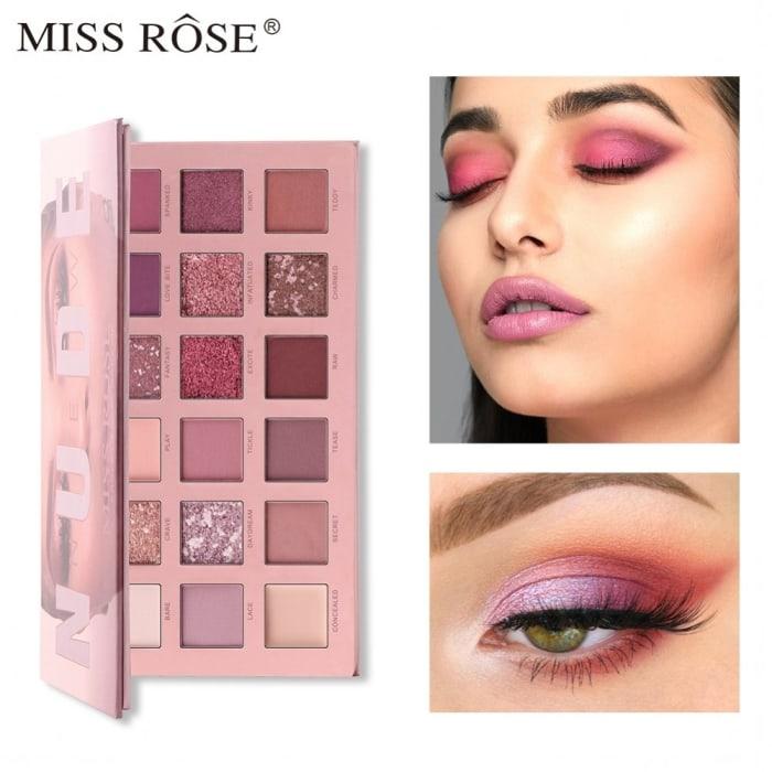 Paleta de Sombra New Nude 18 Cores/Nude - Miss Rose - Ref. 7001-002B (big)