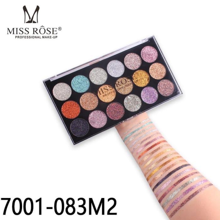 Paleta de Glitter 18 Cores M2 - Miss Rose - Ref. 7001-083M2 (big)