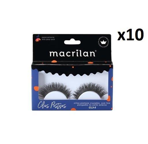 Cx C/10 Un - Cílios Postiços  Fios Cruzados - CL3-5 - Macrilan (big)