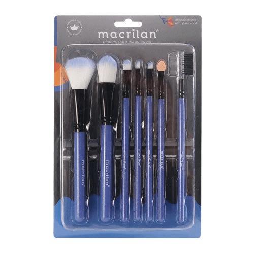 Kit KP5-9A com 7 Pincéis para Maquiagem Macrilan (big)