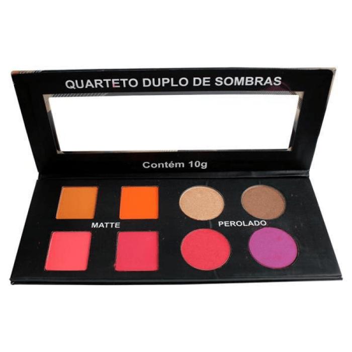 Quarteto Duplo De Sombras Matte Perolado Ludurana 8 Cores 10G B00041 (big)