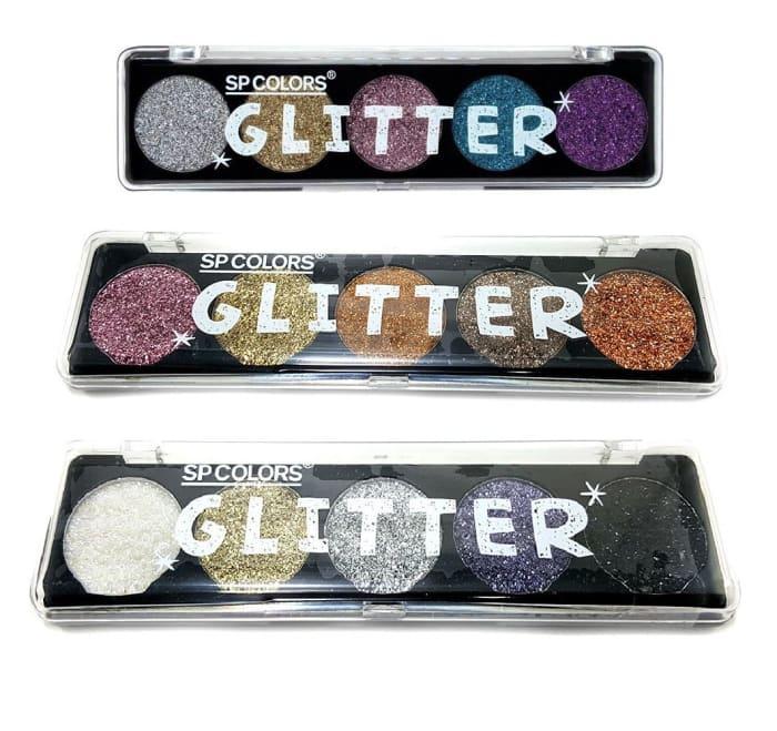 Kit c/6 Un - Paleta de Glitter Prensado SP Colors - SP188 (big)