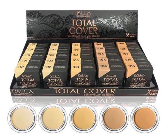Box c/25 Un -  Corretivo Alta Cobertura Total Cover - Dalla Makeup (big)
