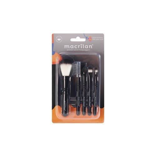 Kit c/12 Un - Kit com 5 Pincéis para Maquiagem Cores Sortidas KP5-18 - Macrilan (big)