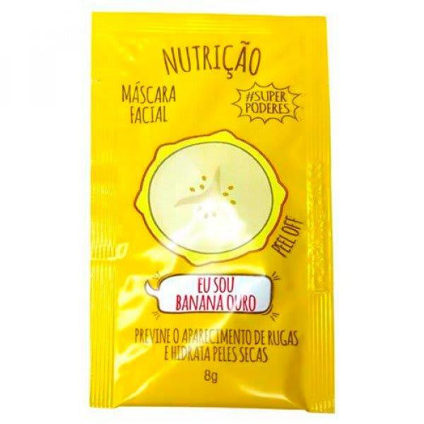 Sachê Máscara Facial Banana Ouro #SuperPoderes - BNOSP01 (big)