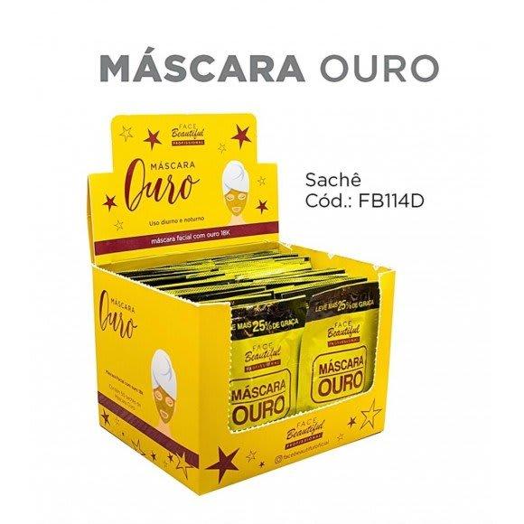 Box c/50 Un - Sachê Máscara Ouro 10ml - Face Beautiful (big)