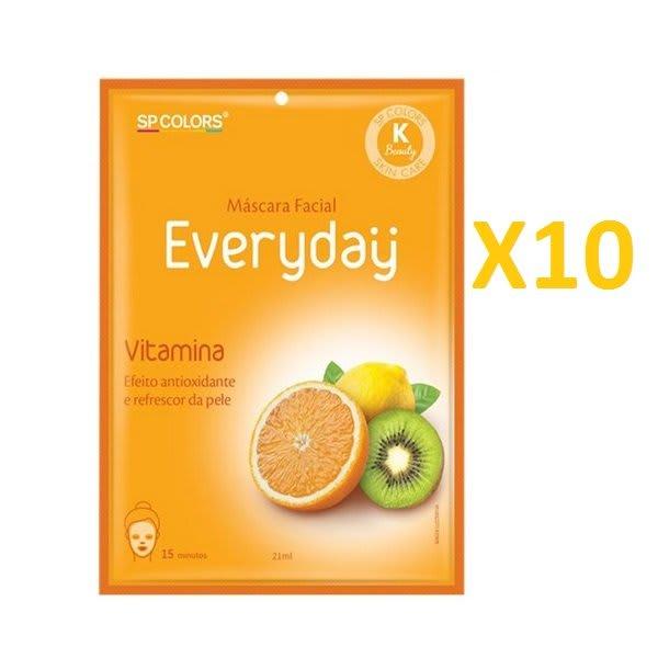 Kit c/10 Un - Sachê Máscara Facial Everyday Vitamina 21ml - SP Colors - EV004 (big)