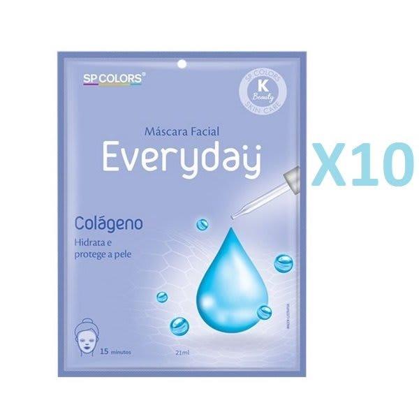 Kit c/10 Un - Sachê Máscara Facial Everyday Colágeno 21ml - SP Colors - EV003 (big)