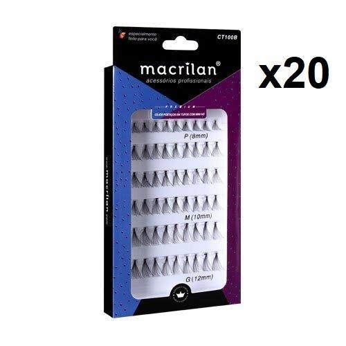 Box c/20 Un - CT100B - Cílios Postiços em Tufos com Mini Nó - Macrilan (big)