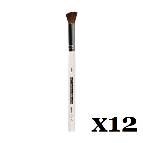 Caixa C/ 12 Und. - Pincel W901 profissional chanfrado para sombra Macrilan – Linha W (big)