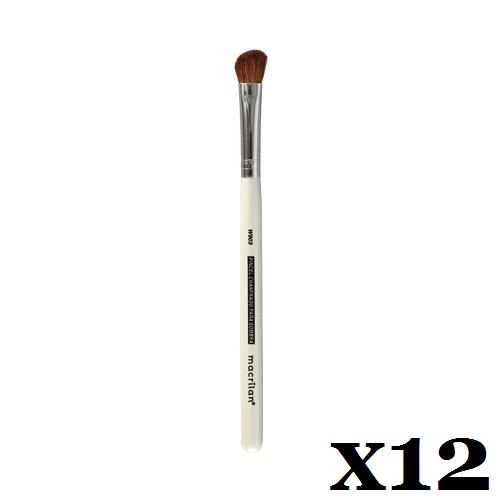 Caixa C/ 12 Und. - Pincel W903 profissional chanfrando para sombra Macrilan – Linha W (big)