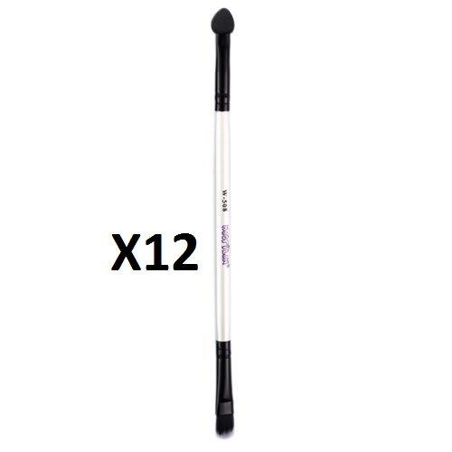 Kit c/12 Un - W508 - Pincel Duplo para Sombra - Linha W - Macrilan (big)
