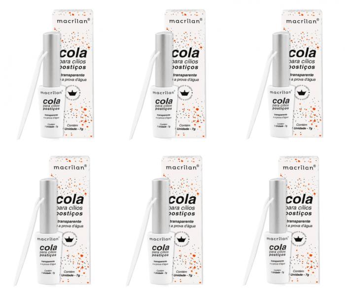Kit C/ 6 und. - Cola Para Cílios Macrilan Transparente CA-001 (big)