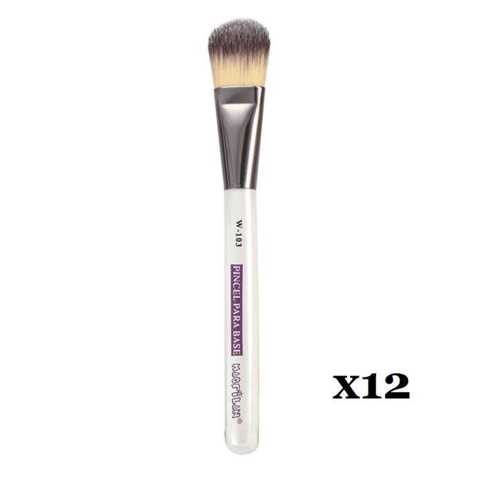 Box C/ 12 Und. - Pincel W103 profissional para base Macrilan – Linha W (big)