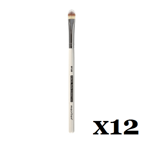 Box C/ 12 Und. - Pincel W106 profissional para corretivo Macrilan – Linha W (big)