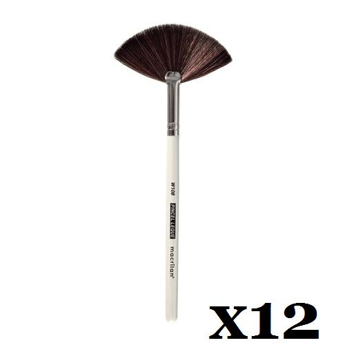 Box C/ 12 Und. - Pincel W108 profissional leque Macrilan – Linha W (big)